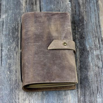Leather Notebooks Journals Vintage Blank Genuine Leather Book