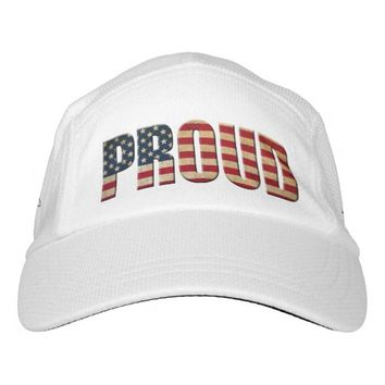 Proud, USA Flag, 4th of July Ball Cap