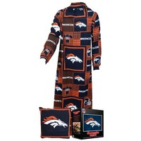NFL Denver Broncos Pillow Snuggie, Large, Blue