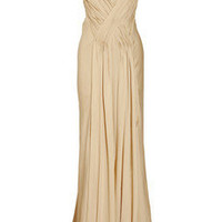 Donna Karan Pleated silk satin-crepe gown - 75% Off Now at THE OUTNET