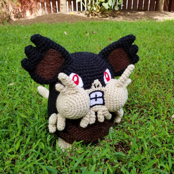 Pokemon Inspired: Alola Raticate Amigurumi (Crochet Plushie/Plush Toy) - READY TO SHIP!