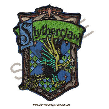 Harry Potter Slytherclaw Cross-House Crest Patch