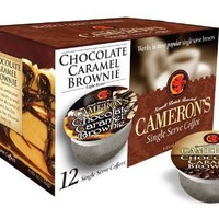 Cameron's Chocolate Caramel Brownie Single Serve Coffees,  12-Count