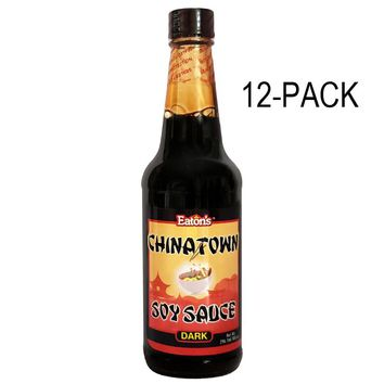 Eaton's Chinatown Soy Sauce (Dark) 10oz (Pack of 12)