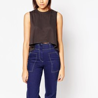 Tired Of Tokyo Sleeveless Top With Split Back at asos.com