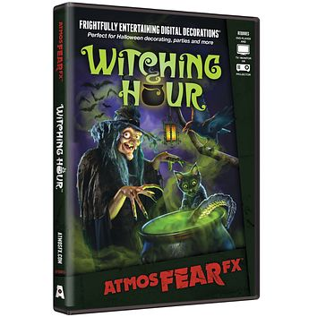 Witching Hour DVD AtmosFearFX Projection to Wall Haunted House Digital Decoration for Halloween 2017