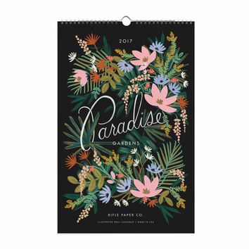 2017 Paradise Gardens Wall Calendar by RIFLE PAPER Co.   Made in USA