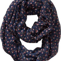Old Navy Womens Printed Infinity Scarf Size One Size - Red signature floral