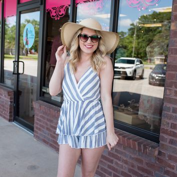 Simply Sure Striped Romper