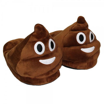 Winter Funny Adult Emoji Cartoon Warm Plush Wool Slippers