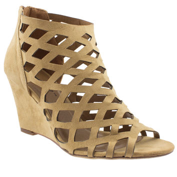 Lattice Play Along Caged Booties