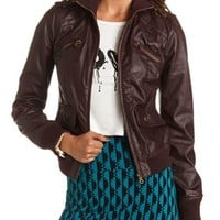 Zip-Front Bomber Jacket: Charlotte Russe