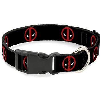 Buckle-Down Deadpool Logo Pet Collar