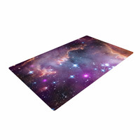 "Suzanne Carter ""Cosmic Cloud"" Celestial Purple Woven Area Rug"