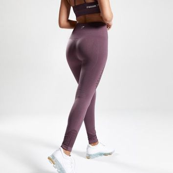 Gymshark Seamless Energy High Waisted Leggings - Purple Wash