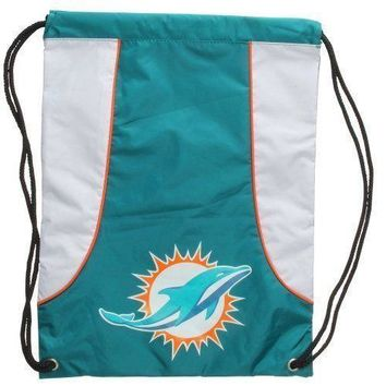 NFL Football Miami Dolphins Sack Draw-String Sling Bag Backpack Back Pack NEW