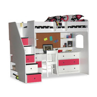 Berg Utica Twin Dorm Loft Bed with Desk and Storage
