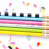 You Got This Set of 6 Multicolor Pencils