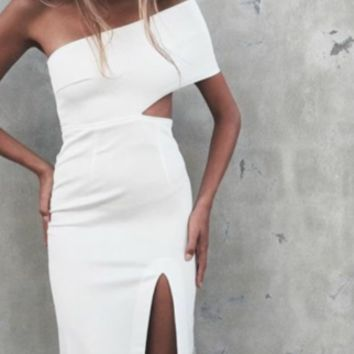 Keke White Bandage Dress