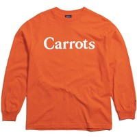 Carrots Wordmark Longsleeve T-Shirt Orange