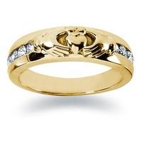 0.32 ctw. Men's Round  Diamond Wedding Band in 14K Yellow Gold