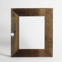 Salvaged Barnwood Frame, 8x10 rustic reclaimed wood one of a kind charm