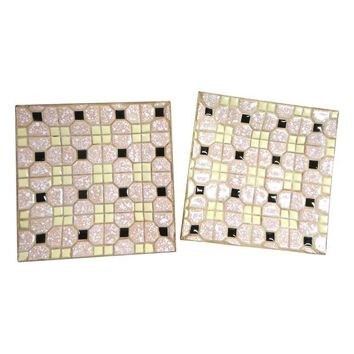 Pre-owned Mid-Century Tile Servers - A Pair