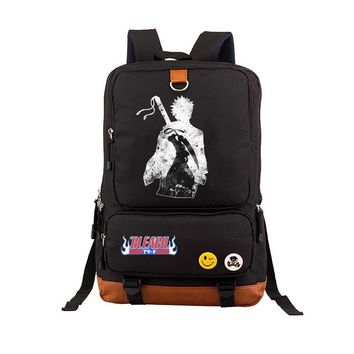 Anime Backpack School School student Bags Printing Laptop Backpack Japan kawaii cute BLEACH Mask Unisex backpack Cowhide Bag Computer book bag AT_60_4