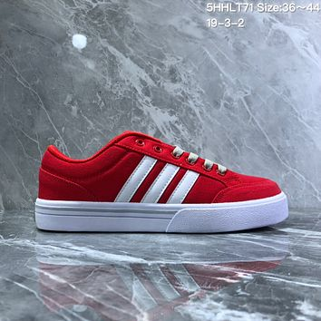 HCXX A732 Adidas NEO campus opens mouth to laugh canvas board shoe Red