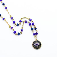 Evil eye beads necklace