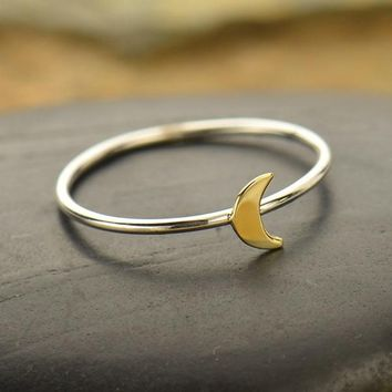 Tiny Moon Ring