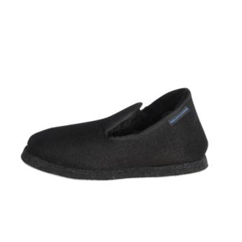 5464 Hand Made Wool Slippers - Black