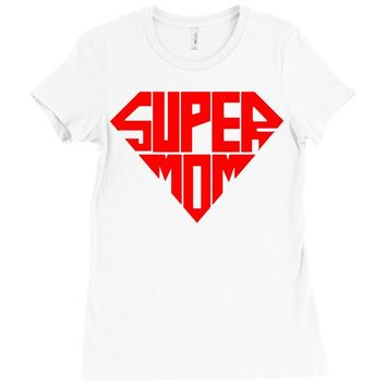 super mom 1 png Ladies Fitted T-Shirt