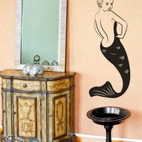 Vinyl Wall Decal Sticker Mermaid Pin up Girl item #OS_MB132