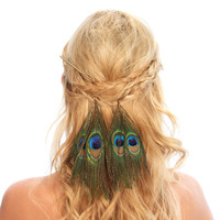 Peacock Feather Hair Sticks