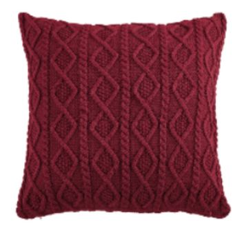 Cowgirl Kim Cable Knit Red Euro Shams~ Shams Only