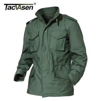 TACVASEN US Army Camouflage Military Tactical Jacket Men Winter Windbreaker Male Thermal Waterproof Jacket Raincoat TD-WHFE-015