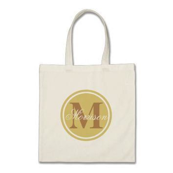 Tan Prestige Monogram Tote Bag