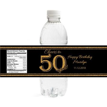 Cheers to Birthday Water Bottle Labels
