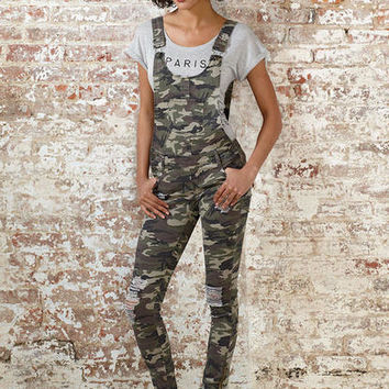 Spoon Destructed Camouflage Overall