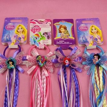 Children's Doll Accessories Sophia Headdress Wig Mermaid Princess Head Rope Child Headdress Rubber Band Hair Clip