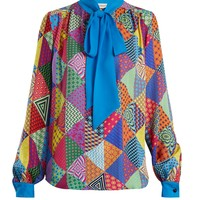 Veddar patchwork-print silk blouse | Mary Katrantzou | MATCHESFASHION.COM UK