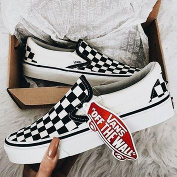 Trendsetter VANS Slip-On Canvas Old Skool Print Flats Sneakers Sport Shoes 2284eff5d2dc