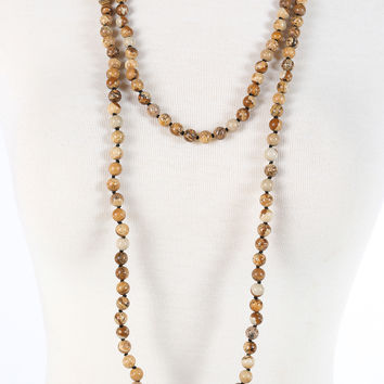 Camille Necklace - Brown Multi
