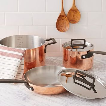 Tri-Ply Copper 5-Piece Set