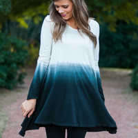 Nice Fade Tunic, White/Black
