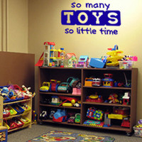 So Many Toys So Little Time Vinyl Wall Art Decal