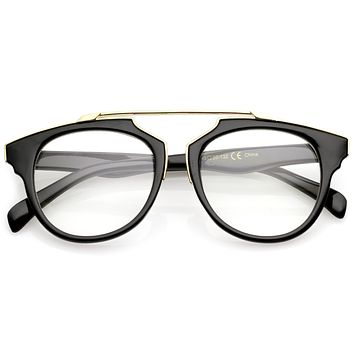 Modern Fashion Horned Rim Clear Lens Glasses A966