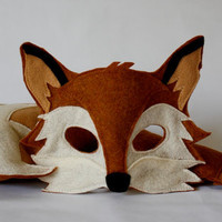 Xander Fox Mask and Tail Pretend Play Costume Woodland