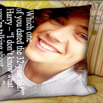 One Direction Quotes Harry Styles - Pillow Cover and Pillow Case.